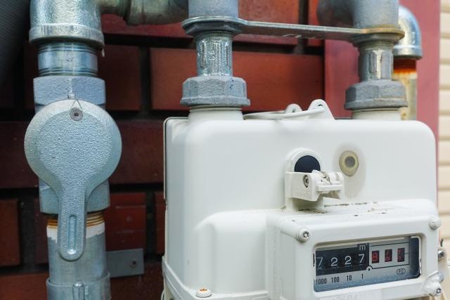 ガスの検針メーター